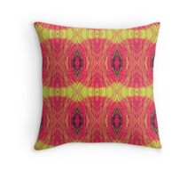 Lemon and red abstract. Throw Pillow