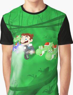 Super Jurassic Mario World Graphic T-Shirt