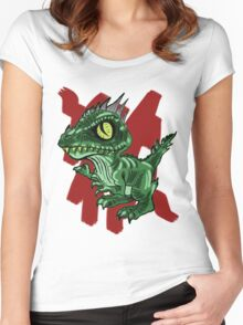 Funky Dino Women's Fitted Scoop T-Shirt