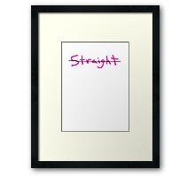 gay or straight funny club pub bar 80s party Framed Print