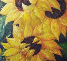 Dancing Sunflowers Sticker