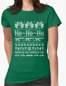 McClane Christmas Sweater White Womens Fitted T-Shirt