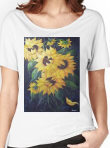 Dancing Sunflowers Women's Relaxed Fit T-Shirt