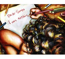 Dear Santa Photographic Print