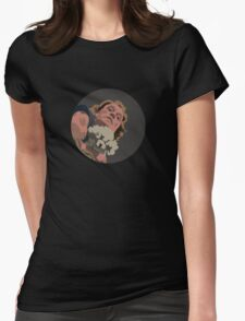It Puts The Lotion in the Basket Womens Fitted T-Shirt