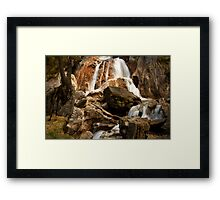 Alpine Waterfall Framed Print