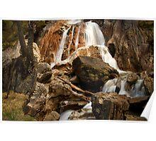 Alpine Waterfall Poster