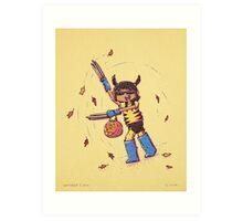Wolverine Trick or Treat Art Print