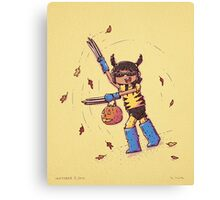 Wolverine Trick or Treat Canvas Print