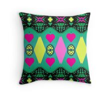 Hot pink hearts. Throw Pillow