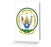 Seal of Rwanda  Greeting Card