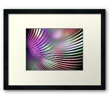 Shiny Purple Shell Framed Print