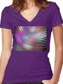Shiny Purple Shell Women's Fitted V-Neck T-Shirt