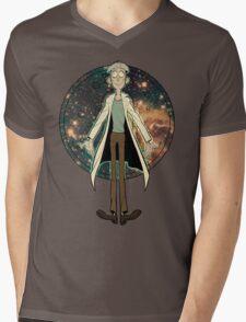 Doofus Rick (Starry Coin) Mens V-Neck T-Shirt