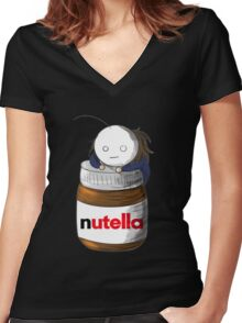 Cry and His Nutella Women's Fitted V-Neck T-Shirt