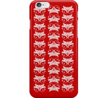Red mirror bird pattern iPhone Case/Skin