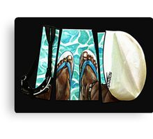 The Swimmer  Canvas Print