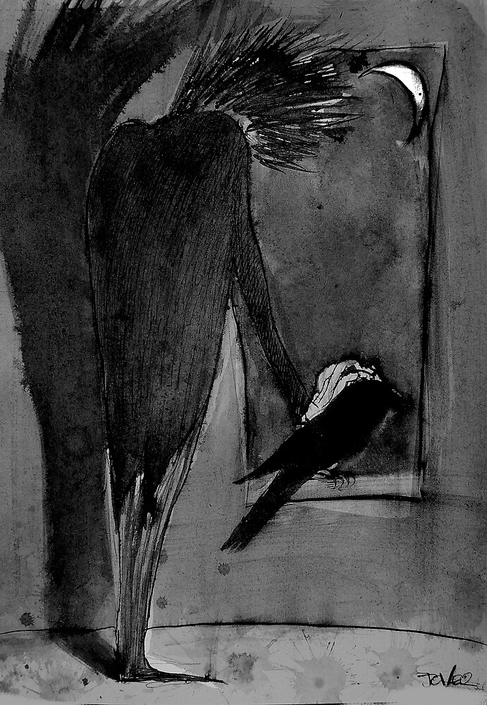 man and crow by Loui  Jover
