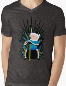 Finn on Throne Mens V-Neck T-Shirt