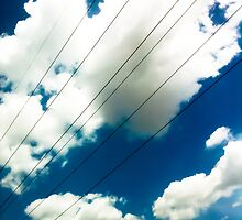 Lines and The Blue Sky [ iPad / iPod / iPhone Case ] by Mauricio Santana
