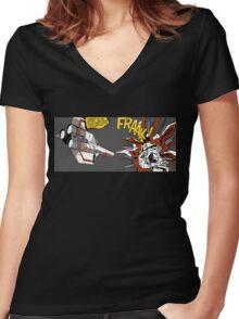 FRAAK! Women's Fitted V-Neck T-Shirt
