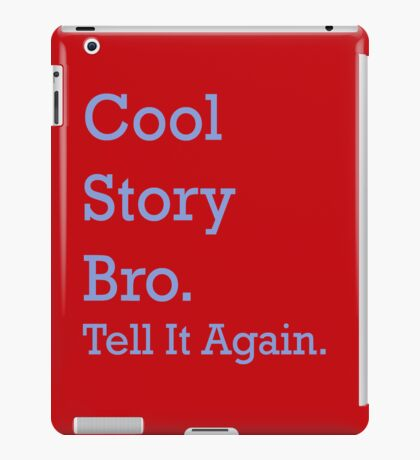 Red Cool Story Bro. iPad Case/Skin