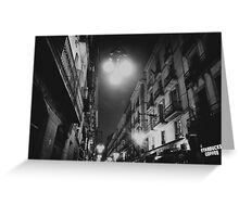 street in night Greeting Card