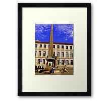 La Place De Republique  Arles Provence Framed Print