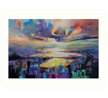Loch Garry Transition Art Print