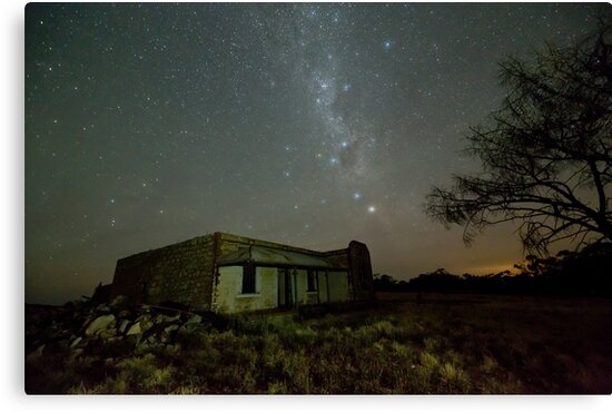 Booleroo North Abandoned Homestead after Moonset by pablosvista2