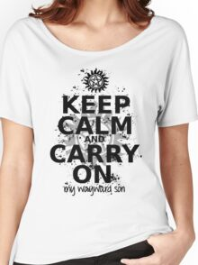 Keep Calm - SPN Style Women's Relaxed Fit T-Shirt