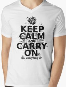 Keep Calm - SPN Style Mens V-Neck T-Shirt