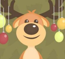 MERRY CHRISTMAS CUTE REINDEER Sticker