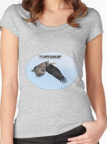 American Bald Eagle 2015-25 Isolated Women's Fitted Scoop T-Shirt