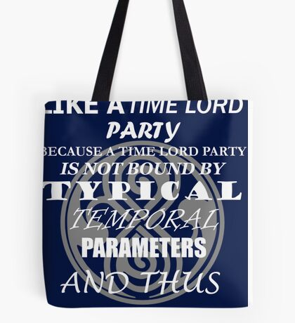 Time Lord Party Tote Bag