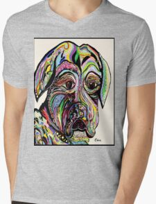 Colorful Boxer Mens V-Neck T-Shirt