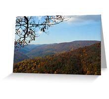 Blue Ridge Mountains of Virginia Greeting Card