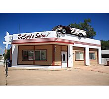 Route 66 - DeSoto's Salon Photographic Print