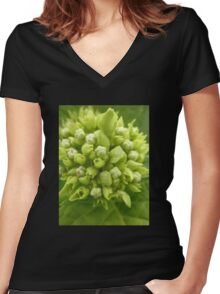 The Heart of the Matter, Hydrangea,Tumut, Australia. Women's Fitted V-Neck T-Shirt