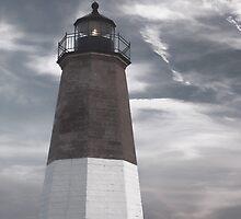 Point Judith Lighthouse by Nancy de Flon