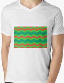 Chevron Christmas Cushion 8 Mens V-Neck T-Shirt