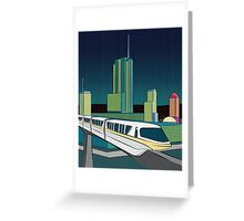 Progress City - MonoRail Greeting Card