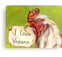 I Love Vegans! Metal Print