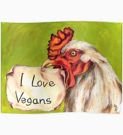 I Love Vegans! Poster