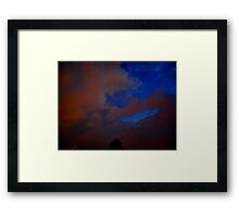 ©HCS Blue and Red Storm Clouds II Framed Print
