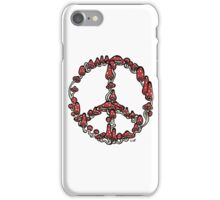 Peace Symbol Made of Mushrooms (red version) iPhone Case/Skin
