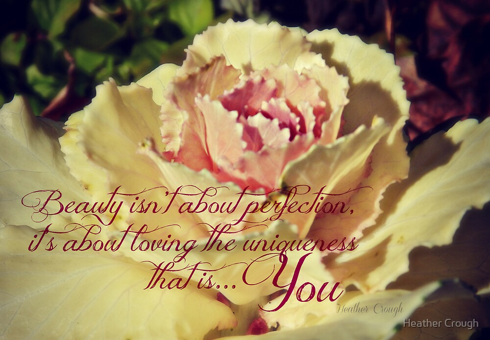 Beauty isn't about Perfection by Heather Crough