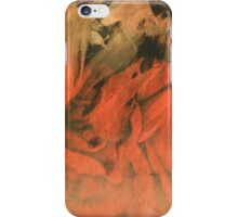 Red Orange and Pink Feathery Strokes iPhone Case/Skin