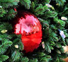 Christmas Reflections, San Francisco by Barbara  Brown