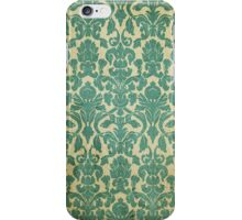 Vintage Turquoise Wallpaper iPhone Case/Skin